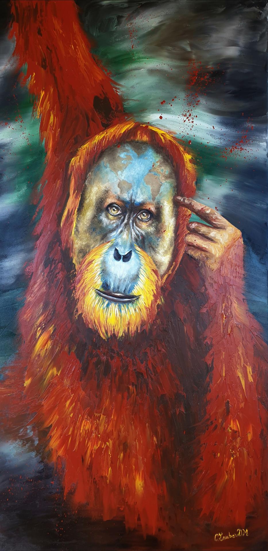 Orang-outan (60x120cm)