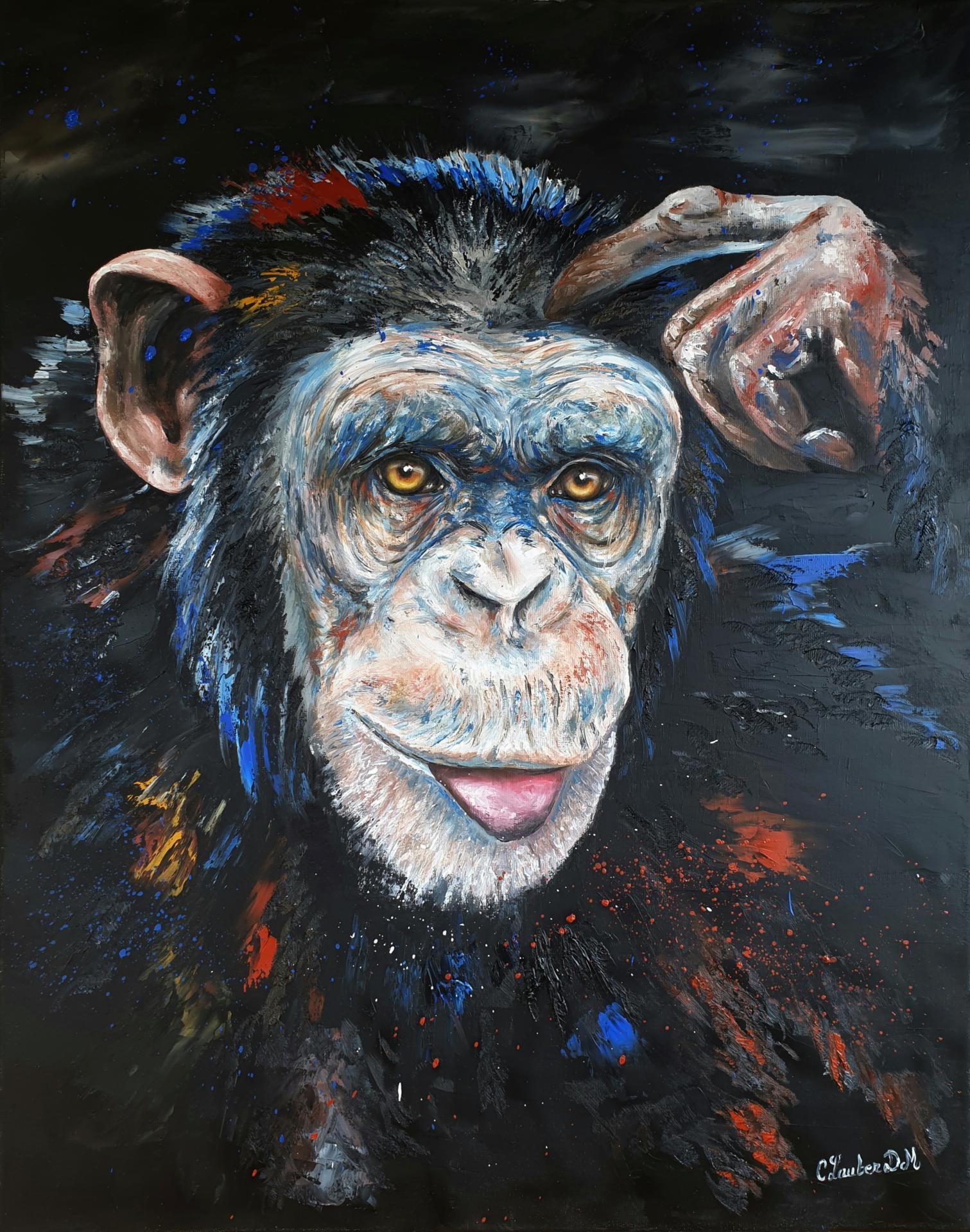 Chimpanzé (73x92cm)