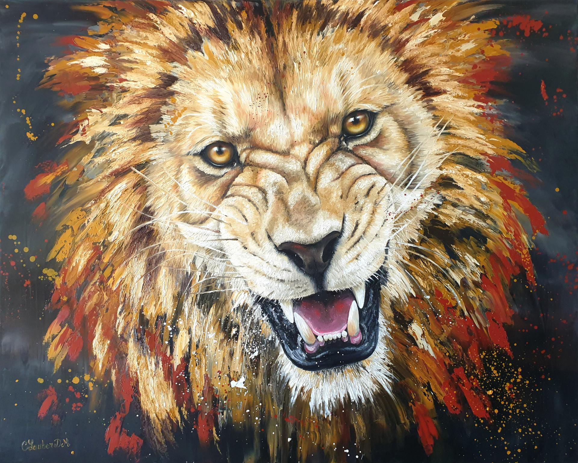 Lion (81x100cm)