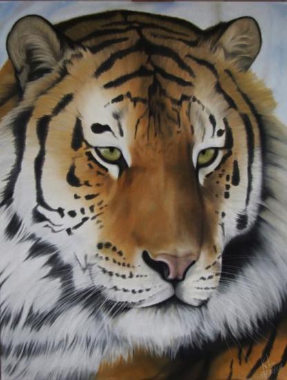 Tigre sur toile 100*110cm