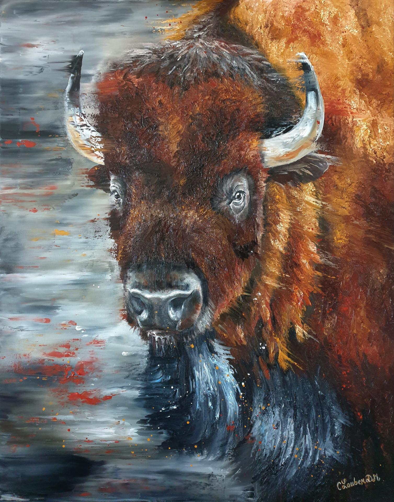 Bison 73x92cm